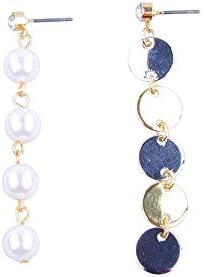 NONE BRAND Nuevos Pendientes exclusivos de Lentejuelas de Perlas largas asimétricas para Damas Regalo de cumpleaños Femenino