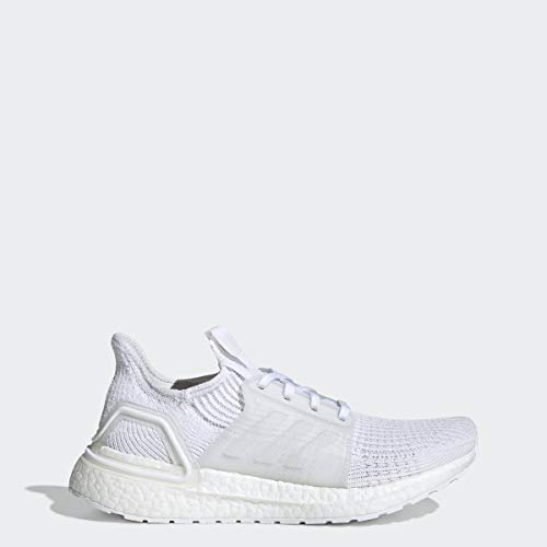 adidas Women's Ultraboost 19 W Running Shoe, White/Grey/Black, 9 M US