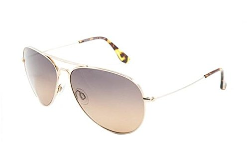 Maui Jim Mavericks HS264-16 | Polarized Gold Aviator Frame Sunglasses, ()