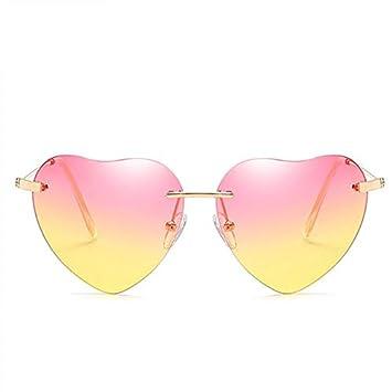 DXXHMJY Gafas de Sol En Forma de corazón Gafas de Sol de ...