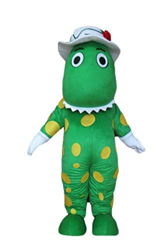 ARISMASCOTS Adult Size Cute Dorothy Dinosaur Mascot Costume for Party Cartoon Character Mascots Deguisement Mascotte