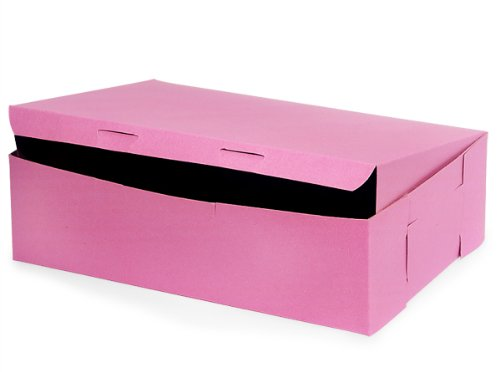 Lot of 25 Bakery or Cake Box PINK 14x10x4