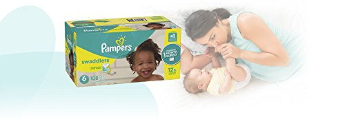 Large Product Image of Pampers Swaddlers Disposable Diapers Size 6, 108 Count, ONE MONTH SUPPLY