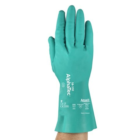 8 - AlphaTec 58-330, Nitrile Gloves, with AQUADRI Technology, Ansell by Ansell