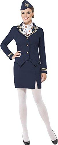Airways Attendant Costume Medium Blue - Complete Airway