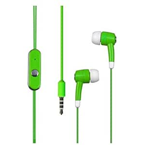 Green Handsfree Headset 3.5mm Stereo Earphones Earbuds for Samsung Galaxy Alpha G850 + Keychain Tool