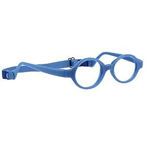 Miraflex: Built-Up Bridge - Baby Lux Unbreakable Kids Eyeglass Frames | 38/12 - Dark Blue | Age: 2Yr - 5Yr