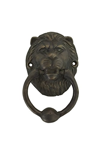 Boutique Collection Lion Head Brass Door Knocker or Puller (Apartment Door Knockers)