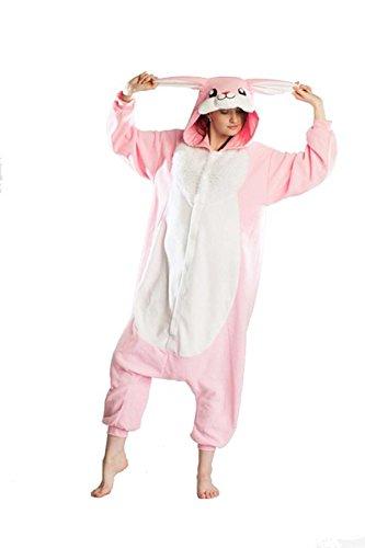 Rnmomo Unisex-adult Kigurumi Onesie Rabbit Pajamas (M: 163 - 172cm (5.3' - 5.6') height) (Rabbit Costumes For Adults)
