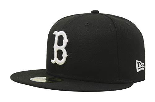 (New Era 59Fifty Hat MLB Basic Boston Red Sox Black/White Fitted Baseball Cap (7 7/8))