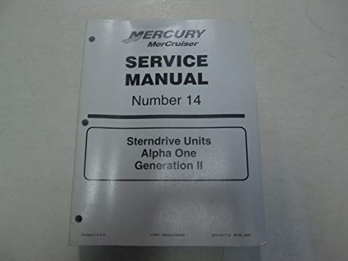 2002 Mercury MerCruiser #14 Sterndrive Units Alpha 1 Generation 2 Service Manual***