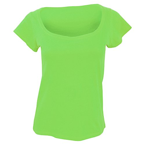 SOLS- Camiseta de manga corta Scoop para chica/mujer Azul marino