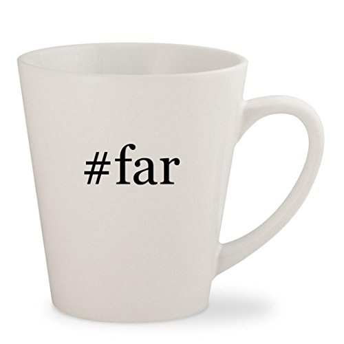 #far - White Hashtag 12oz Ceramic Latte Mug Cup