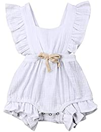 6f90c1a66 Amazon.com  Whites - Footies   Rompers   Clothing  Clothing