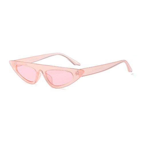 de marco estilo Gafas Gafas de gato diseñador sol moda Rosa de pequeño estilo de sol Huicai ojo de de vintage de Estilo de de nXxwfTTSq