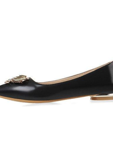 Flats eu40 las rojo us9 y de casual mujeres talón black oficina Beige zapatos Toe cn41 PDX señaló carrera vestido uk7 plano negro 8HZqWgEFA
