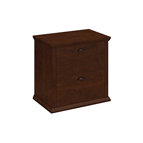 - Bush Furniture Yorktown Lateral File Cabinet in Antique Cherry