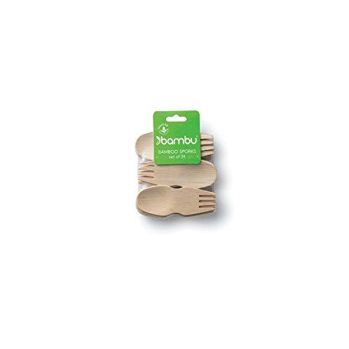 bambu, Veneerware Bamboo Sporks - 24-Pack