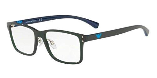 f8fac55dd221 Emporio Armani EA3114 Eyeglasses 5564 Matte Transparent Military Green  53-17-145: Amazon.co.uk: Clothing
