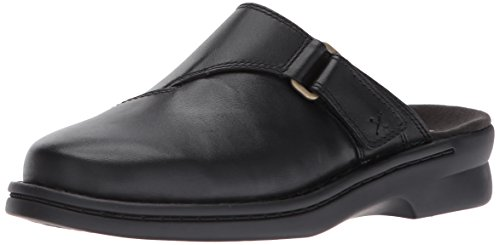 Clarks Womens Patty In Mule Black Leather
