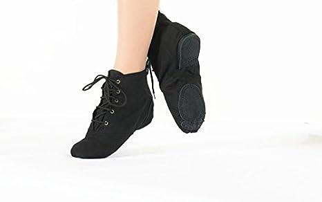 Swallowuk Zapatillas de danza de poli/éster para hombre negro Negro  40
