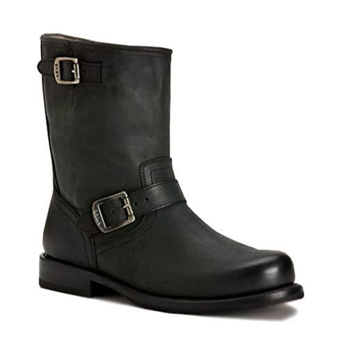 Frye Men's Wayde Engineer Pull Boot, Black, 8.5 M - Mens Frye Engineer