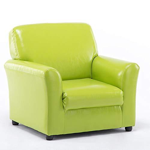 (Axdwfd Chaise Longue, Children's Sofa Seat Leather Boy Girl Princess Baby Mini Lazy Reading Single Cute Baby Small Sofa 58x55x55cm (Color : Green))