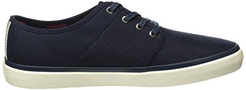 JACK & JONES Herren Jfwturbo Waxed Canvas Sneaker Blau (Navy Blazer)