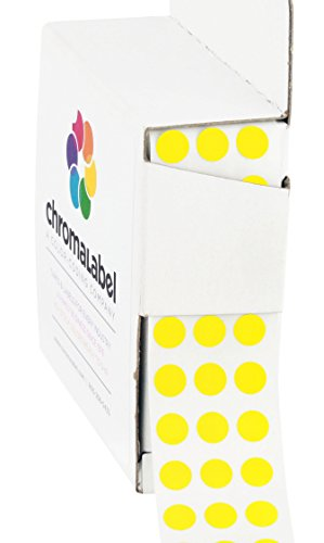 1/4 Yellow Color-Coding Dot Stickers | Permanent Adhesive, 0.25 in. — 1,000 Labels per Dispenser (Yellow Dots)