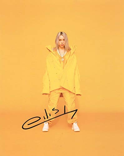 Billie Eilish singer 8x10 SIGNED REPRINT photo Dark POP #3 RP