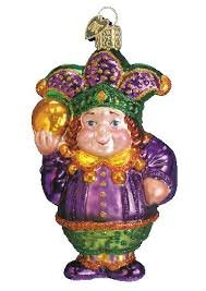 Old World Christmas Mardi Gras Jester Glass Ornament by Old World Christmas