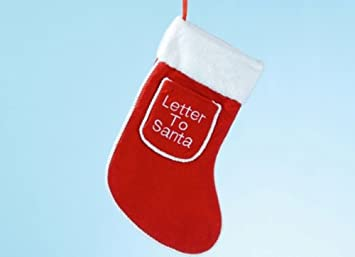 Letter Christmas Stockings.Letter To Santa Red Christmas Stocking With Pocket