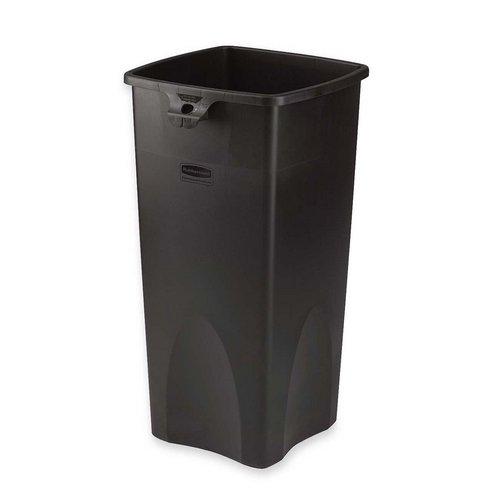 NEW - Untouchable Waste Container, Square, Plastic, 23 gal,