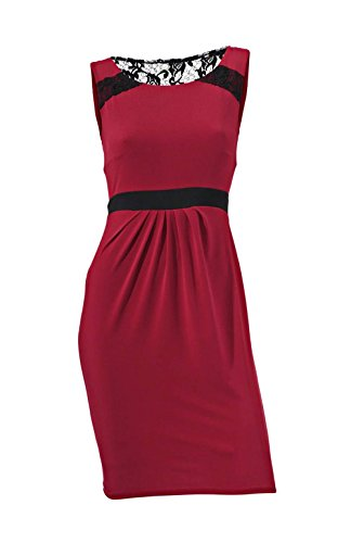 Ashley Brooke - Robe - Crayon - Opaque - Femme Rouge Rouge Taille 38