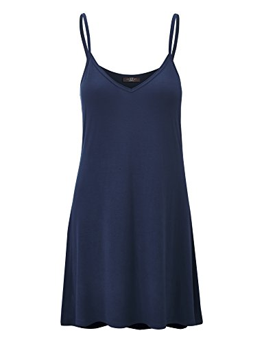 LL Short in Wdr1090 V and Womens Neck Love Lock Made Strap Spaghetti Dress Tunic navy USA HREzA