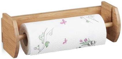 Relaxdays 10020331 Derouleur De Papier Essuie Tout Mural En Bambou Distributeur Porte Rouleau En Bois H X L X P 12 X 37 X 13 Cm Nature Amazon Fr Cuisine Maison