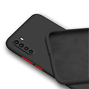 Mobistyle Soft Matte Silicone Camera Protection TPU Shockproof Back Cover Case for Oneplus Nord (Black)