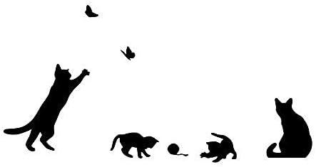 Las pegatinas de pared con mariposas y un grupo de gatos traviesos pueden mover a Diy para decorar su hogar S escalera pared lateral S habitación infantil 58 * 69Cm: Amazon.es: Bricolaje