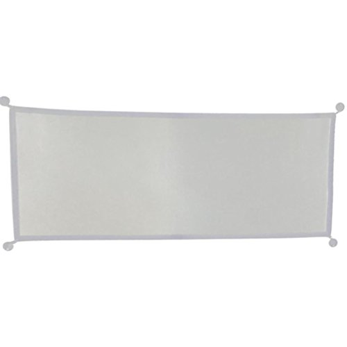 LiPing Magic Gate Portable Folding Safety Guard for Pets Dog Cat Isolated Gauze Anywhere Drapes for Bedroom (White, 28.3