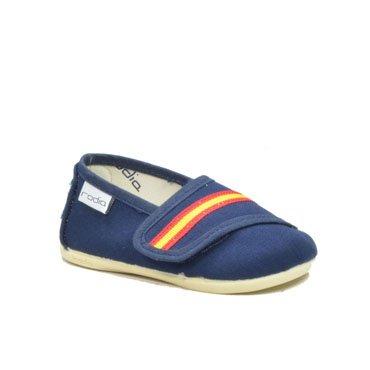 rodia - Alpargatas de niño lona bandera de españa azul marino: Amazon.es: Zapatos y complementos