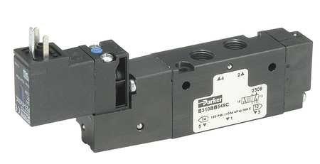 SCHRADER BELLOWS B612BB549A Pneumatic Valve, AIR, 2POSITION, 4WAY, 150PSI, 3/8INCH PTF, SS, 24VDC ()