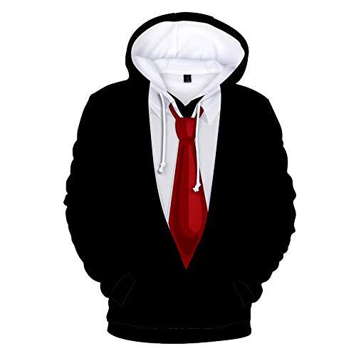 Sweatshirt Tux (Stylish 3D Printed Tie Tuxedo Suit Men's Hoodie Party Wedding Sweatshirt Jacket (M, Black 3))