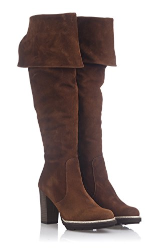 Laura Sole Stivali The Donna And Tabacco Musketeer Boot Heeled High Above Platform Moretti Knee XrHX8