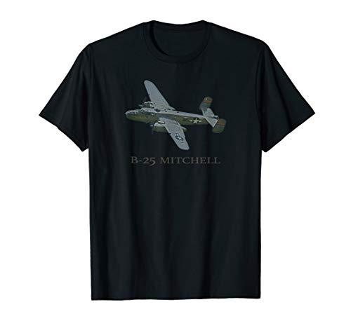 B-25 Mitchell WW2 Bomber Plane T shirt