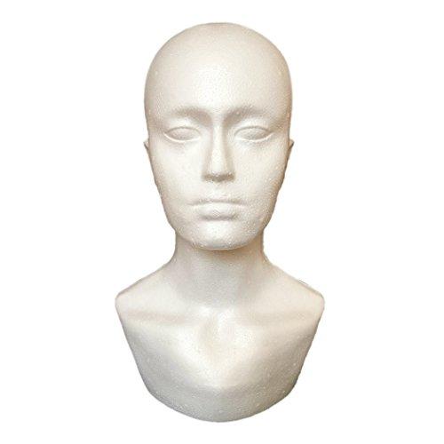 Male Model Head, Inkach Foam Wig Heads Styrofoam Mannequin Manikin Head Model Hair Glasses Display - Model Male Sizes