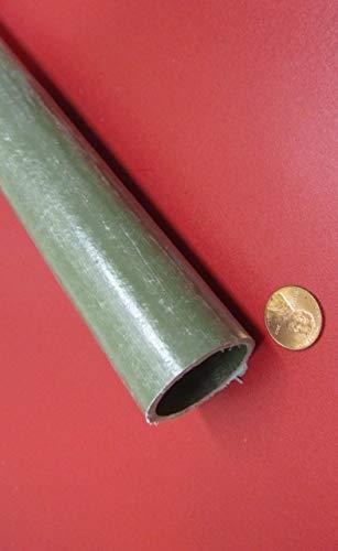 1-1//2 Length 1-1//4 x 5 Ft OD x 1.25 Green FRP Fiberglass Round Tube 1.50 1 pc
