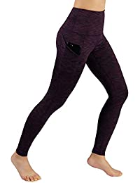 e9dd18abba8b2 High Waist Out Pocket Yoga Capris Tummy Control Workout Running 4 Way  Stretch Yoga Pants,