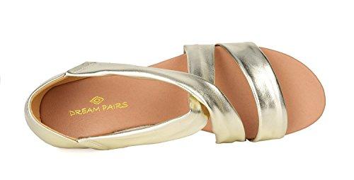 gold 8 Women's Wedge PAIRS Sandal Formosa 10 DREAM pwTAqg