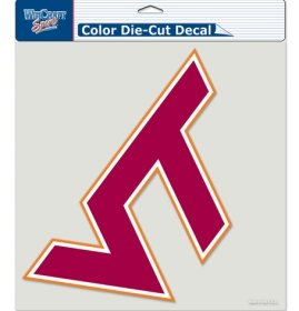 (WinCraft Virginia Tech COLOR Die Cut Window Cling, official team colors., 8
