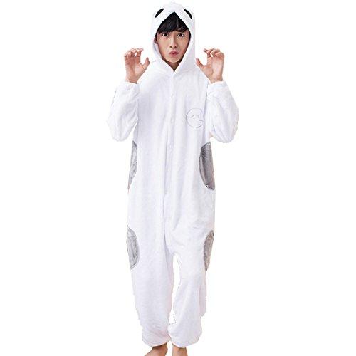 Baymax Costume (KINOMOTO Cute Anime Baymax Unisex Onesies Pajamas Cosplay Costume for Men Women Hooded Plush Sleepwear (XL))